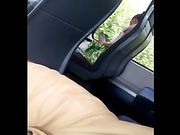 En fyr viser sin pik i offentlig bus